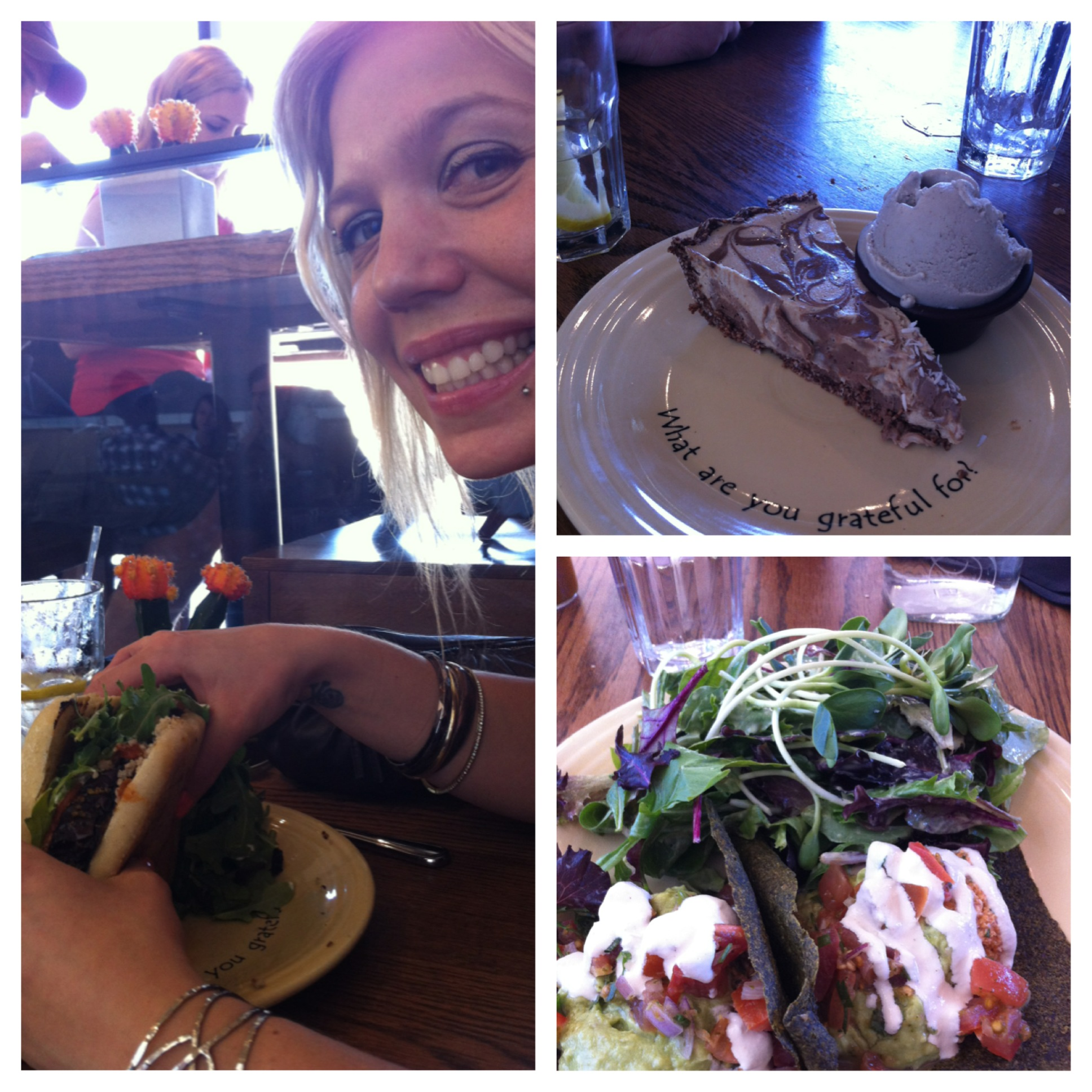 That place was the bomb diggity! One round of Raw Tacos, one Mushroom  Veggie Burger, and one Raw Coconut Cream Pie a la mode later…